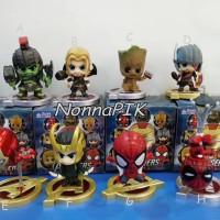 CHIBI - Action Figure Pajangan Boneka Superhero Avengers Super Heroes