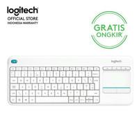 Logitech K400 Plus Wireless Touch Keyboard - White