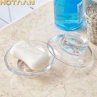 RT1493 Padat, transparan kaca sabun piring aksesori kamar mandi, sabun