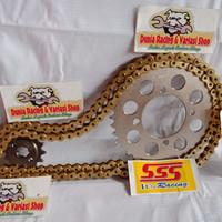 Gear set sss 415 Vixion Satria fu sonic CB 150 byson Rx king Mx king