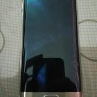 Samsung S6 Edge Gold 64Gb mesin normal minus lcd tompel secuil murah