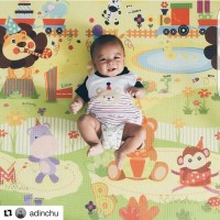 Karpet bayi PARKLON Korea Safari Alphabet Baby Playmat Roll Play Mat