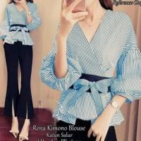 Termurah Rena Kimono Blouse Blue