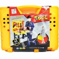 TOOL SET KOPER 63 PCS 1092 - MAINAN ANAK TOOLS ALAT TUKANG