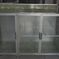 Meja Kompor Aluminium 3 Pintu (Bawah Keramik)