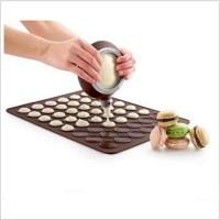 HGF63 Food Grade Macaron Silikon Cetakan Kue 30 Lubang Kue Tikar Baker
