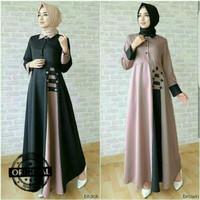 Gamis Syar'i Afida Maxi Dress/Gamis Baloteli/Baju Muslim Wanita