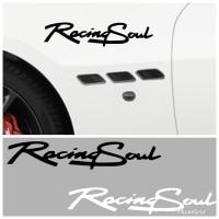 Stiker Mobil Unik Lucu Cutting Sticker Racing Soul
