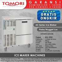 Mesin Pembuat Es Flake AS-250 TOMORI ICE FLAKE Maker