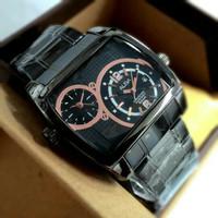 Jam Tangan Pria / Cowok Alba Double Watch Rantai Full Black