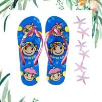 Sandal Surfer Girl Original Happy Summer - Biru ml