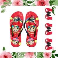 Sandal Surfer Girl Original Happy Summer - Merah ml