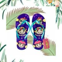 Sandal Surfer Girl Original Happy Summer - Ungu ml