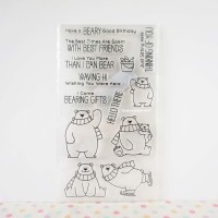 Bear Clear / Silicone / Rubber Stamp Scrapbook 11 cm x 20 cm
