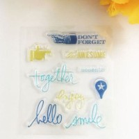 Don't Forget Clear / Silicone / Rubber Stamp Scrapbook