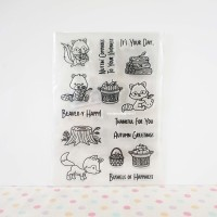 Racoon Clear / Silicone / Rubber Stamp Scrapbook 11 cm x 20 cm