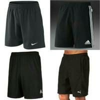 celana pendek sport gradeori / kolor nike,adidas black
