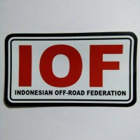Stiker IOF (Indonesian off-road federation)