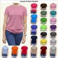 Tshirt / Kaos Polos Oneck Wanita / Cewek, Combed Murah Grosir