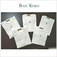 Baju koko Putih Lengan Pendek