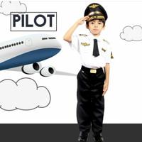 BAJU SERAGAM PROFESI PILOT ANAK LAKI 2 / BAJU PROFESI ANAK PILOT 605