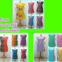 Promo Daster Midi / Baju Tidur Wanita Dress Motif Murah Rayon Adem