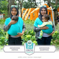 Geos Gendongan Kaos bayiku.id 2in1 instan baby wrap