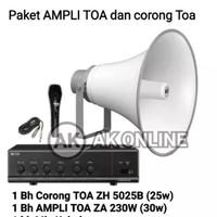 Paket TOA SOUND SYSTEM TOA AMPLI dan Corong TOA