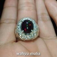Batu Cincin Black Opal Asli (kode:740)