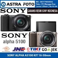 SONY ALPHA A5100 KIT 16-50mm GARANSI RESMI SONY KAMERA MIRORRLESS