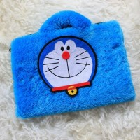 Doraemon Bulu Rasfur 13-14 Inch Softcase Tas Laptop Notebook - 13 Inch