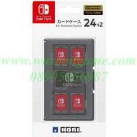 HORI Card Case 24 + 2 for Nintendo Switch (Black Transparent)