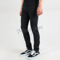 Celana jeans skinny panjang hitam polos pria  / denim skiny cowok 36