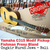 Gitar Akustik yamaha C315 original fishman presy Bland