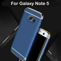 3 in 1 Case Samsung Galaxy Note 5 Note5 Back Cover Casing - Emas