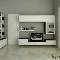 meja tv atau bedrop tv bahan multriplek + hpl dan taco set