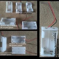 AA Battery Holder Baterai Case Batere Box Kotak Batre