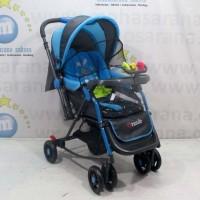 Pliko PK268 Grande 2in1 Baby Stroller Kereta Dorong Bayi & Ayunan Blue