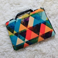 "Softcase motif simple Full Print 10"" & 11-12 inch softcase tas laptop"