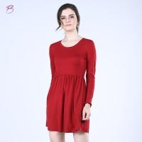 BODYTALK-DRESS LENGAN PANJANG FALLING DRESS (74003T6RD)