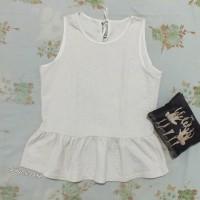 preloved embossed peplum top import / atasan blouse korean look murah