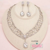 Aksesoris Kalung Pengantin Modern l Perhiasan Pesta Wedding - KAP 022