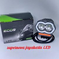 Lampu Tembak Motor Mobil Owl 2 Mata Strobo + Charger Original Luminos