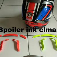 Spoiler helm ink model x14 shoei warna fluo , free 1 stiker