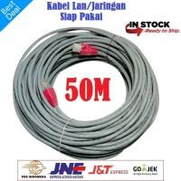 Kabel LAN 50M UTP CAT5e -Rj45 - Plugboot Grey Siap Pakai 50 Meter