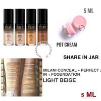 MILANI 2 IN 1 FOUNDATION LIGHT BEIGE 5ML