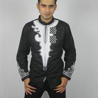 Baju koko black panther wakanda bordir lembut nyaman