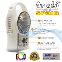 Jual Emergency Kipas Angin,Lampu,Radio 3-in1 Arashi (Spain) 5 inch