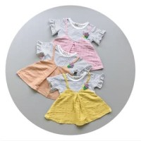 PROMO dari Lovechildren    HENRIETTA baby strip dress overal ka