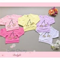 PROMO dari Lovechildren    TWO SMILING CHERRY baju sweater leng